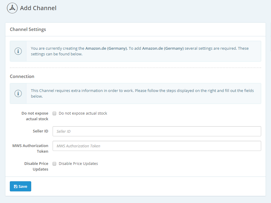 Channels: Adding a new channel - ChannelEngine Help